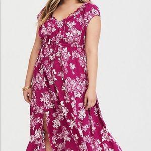 Berry Floral Maxi dress